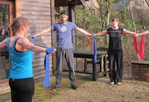 Using resistance bands as part of a workout