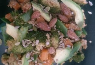 Quinoa and steamed veg salad