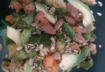 Quinoa and steamed veg salad